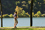 Shikellamy State Park, Sunbury, PA. Couple walking.