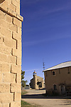 Israel, Shephelah, the Trappist Monastery in Latrun, old hotel and farm buildings.