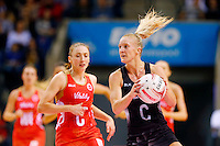 10.02.2017 Silver Ferns Shannon Francois in action during the Silver Ferns v England Roses Vitality Netball International Series test match played at the Echo Arena in Liverpool. Mandatory Photo Credit © Paul Greenwood/Michael Bradley Photography.