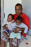 MADAGASCAR, Mananjary, tribe ANTAMBAHOAKA, fady, according to the rules of their ancestors twin children are a taboo and not accepted in the society, the orphanage FANATENANE Center takes care for abandoned twins  / MADAGASKAR, Zwillinge sind ein Fady oder Tabu beim Stamm der ANTAMBAHOAKA in der Region Mananjary, Waisenhaus FANATENANE Center betreut Zwillingskinder die ausgesetzt oder von ihren Eltern abgegeben wurden, Leiter MIKE ANGELICO FARA