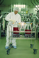 Male lab technician working in bioengineering laboratory in California. Occupation. Career. California.