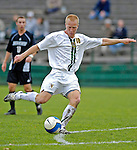 31 October 2007: The University of Vermont Catamounts' Loren Hill, a Senior from Eugene, OR, in action against the University of Binghamton Bearcats at Historic Centennial Field in Burlington, Vermont. The Catamounts shut out the visiting Bearcats 2-0...Mandatory Photo Credit: Ed Wolfstein Photo