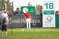 Jeunghun  Wang (KOR) the 18th during Round 4 of the Portugal Masters, Dom Pedro Victoria Golf Course, Vilamoura, Vilamoura, Portugal. 27/10/2019<br /> Picture Andy Crook / Golffile.ie<br /> <br /> All photo usage must carry mandatory copyright credit (© Golffile | Andy Crook)