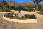 Botanical gardens at Rodalquilar, Cabo de Gata natural park, Almeria, Spain