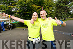 Mike Kissane and Tommy Commane, pictured at the finish of the 24 hour run held in Tralee Town Park on Sunday afternoon last.