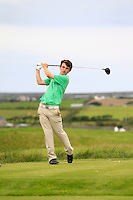 Sean Doyle (Athlone) on the 14th tee during Round 3 of The South of Ireland in Lahinch Golf Club on Monday 28th July 2014.<br /> Picture:  Thos Caffrey / www.golffile.ie