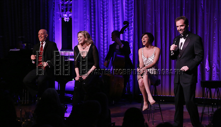 Eddie Korbich, Krysta Rodriguez Cady Huffan and Malcolm Gets perform during the Drama League's 30th Annual 'Musical Celebration of Broadway' honoring Neil Patrick Harris at the Pierre Hotel on February 3, 2014 in New York City.