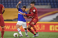 Karol Linetty of Sampdoria and Chris Smalling of Roma<br /> during the Serie A football match between AS Roma and UC Sampdoria at Olimpico stadium in Rome ( Italy ), June 24th, 2020. Play resumes behind closed doors following the outbreak of the coronavirus disease. <br /> Photo Andrea Staccioli / Insidefoto
