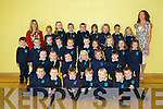 Michelle Broderick's Junior Infants class at  Scoil Bhréanainn, Tralee on Monday