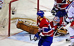 4 December 2008: Montreal Canadiens' goaltender Carey Price gives up his second goal of the evening to New York Rangers' Nigel Dawes making the score 4-2 for Montreal in the second period at the Bell Centre in Montreal, Quebec, Canada. The Canadiens, celebrating their 100th season, played in the circa 1915-1916 uniforms for the evenings' Original Six matchup. *****Editorial Use Only*****..Mandatory Photo Credit: Ed Wolfstein Photo