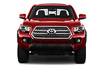Car photography straight front view of a 2016 Toyota Tacoma TRD Off Road Double 4 Door Pick Up