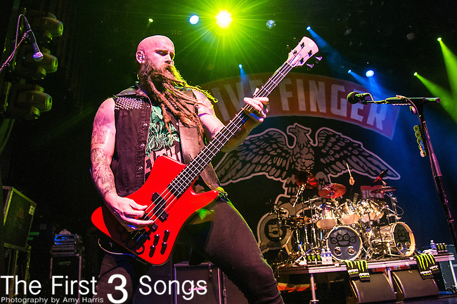 Chris Kael of Five Finger Death Punch performs during the 2016 ShipRocked Cruise. ShipRocked set sail January 18-22, 2016, from Miami to Costa Maya, Mexico on the Norwegian Pearl.