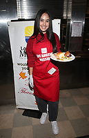 LOS ANGELES, CA - NOVEMBER 27: Emily Tosta, at Los Angeles Mission Thanksgiving For The Homeless at Los Angeles Mission in Los Angeles, California on November 27, 2019. <br /> CAP/MPIFS<br /> ©MPIFS/Capital Pictures