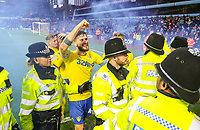 Leeds United players celebrate Kemar Roofe's winner<br /> <br /> Photographer Alex Dodd/CameraSport<br /> <br /> The EFL Sky Bet Championship - Aston Villa v Leeds United - Sunday 23rd December 2018 - Villa Park - Birmingham<br /> <br /> World Copyright &copy; 2018 CameraSport. All rights reserved. 43 Linden Ave. Countesthorpe. Leicester. England. LE8 5PG - Tel: +44 (0) 116 277 4147 - admin@camerasport.com - www.camerasport.com