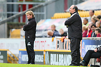 Newcastle Manager Rafa Benitez  and Bradford City manager Stuart McCall during the pre season friendly match between Bradford City and Newcastle United at the Northern Commercial Stadium, Bradford, England on 26 July 2017. Photo by Thomas Gadd.