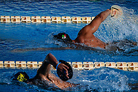 Mattia Zuin, up, and Stefano Di Cola swim during a training session.  <br /> Italian athletes were able to resume training last week after more than 50 days of lockdown due to the coronavirus (covid-19) pandemic <br /> Roma 12-5-2020 Centro Federale di Ostia <br /> Photo Andrea Staccioli / Deepbluemedia / Insidefoto