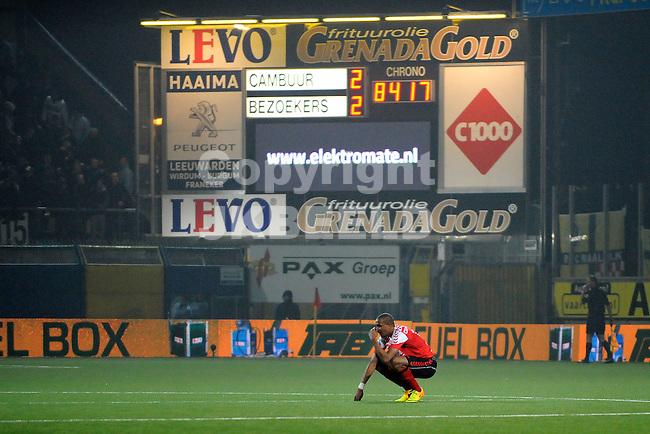 LEEUWARDEN - Voetbal, SC Cambuur - RKC Waalwijk,  Cambuur stadion, seizoen 2013-2014, 14-03-2014,  RKC Waalwijk speler Jean-David Beauguel na de 3-2