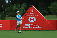 Moriya Jutanugarn (THA) in action on the 2nd during Round 2 of the HSBC Womens Champions 2018 at Sentosa Golf Club on the Friday 2nd March 2018.<br /> Picture:  Thos Caffrey / www.golffile.ie<br /> <br /> All photo usage must carry mandatory copyright credit (&copy; Golffile | Thos Caffrey)