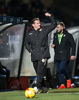 Newport County Manager Graham Westley during the Sky Bet League 2 match between Wycombe Wanderers and Newport County at Adams Park, High Wycombe, England on 2 January 2017. Photo by Andy Rowland.