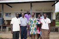 N. Uganda, Gulu District. Peter C. Alderman Foundation project. Local PCAF staff and Joshua, visiting psychiatrist.