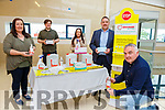 Liam Brosnan with l-r: Mary B Teahan, Eoin O'Shea, Olivia O'Keeffe and John O'Keeffe who have started Greenway Health and Hygiene