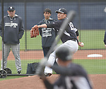 Masahiro Tanaka (Yankees),<br /> MARCH 7, 2015 - MLB : Masahiro Tanaka of the New York Yankees throws in a simulated game during a spring training baseball workout in Tampa, Florida, United States.<br /> (Photo by AFLO)