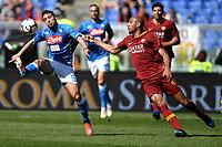 Simone Verdi of Napoli , Steven Nzonzi of AS Roma <br /> Roma 31-3-2019 Stadio Olimpico Football Serie A 2018/2019 AS Roma - Napoli <br /> Foto Andrea Staccioli / Insidefoto