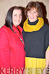 Enjoying the County pioneer social in the Heights Hotel, Killarney on Friday night were Mary B Teahan and Veronica Sugrue, Glenbeigh.