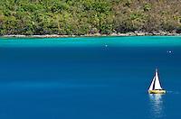 "Sailing vessel ""Pepper"" on a daysail<br /> out of Maho Bay<br /> Virgin Islands National Park<br /> St. John<br /> U.S. Virgin Islands"