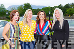 Sinead Kearney, Catriona Sheehan, Elaine O'Connor and Kerry Stack at the 80's-90s Disco in the INEC on Saturday night