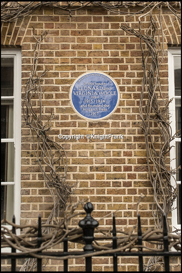 BNPS.co.uk (01202 558833)Pic: KnightFrank/BNPS<br /> <br /> Literature lovers can get inspired by this stunning townhouse where author Virginia Woolf and her husband started their famous publishing company - on the market for £3.25m.<br /> <br /> Leonard and Virginia Woolf bought a hand-operated printing press in 1917 and founded Hogarth Press, a company named after their home Hogarth House.<br /> <br /> It started as a hobby to distract Virginia from her depression but grew into a successful commercial publisher that printed works by EM Forster and TS Eliot as well as the Woolfs themselves.<br /> <br /> The home where it all started in Richmond, Surrey, has now been divided into two luxurious townhouses and the left-hand Leonard House is being sold by Knight Frank.