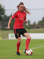 20200627 - TUBIZE , Belgium : Sari Kees is pictured during a training session of the Belgian Red Flames U19, on the 27 th of June 2020 in Tubize.  PHOTO SEVIL OKTEM| SPORTPIX.BE