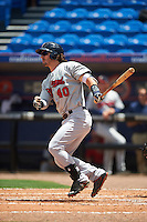 Brevard County Manatees right fielder Clint Coulter (40) at bat during a game against the St. Lucie Mets on April 17, 2016 at Tradition Field in Port St. Lucie, Florida.  Brevard County defeated St. Lucie 13-0.  (Mike Janes/Four Seam Images)