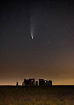 Pictured:  The Neowise Comet in the sky above Stonehenge, Wiltshire this week. <br /> <br /> Please byline: Zack Maynard/Solent News<br /> <br /> © Zack Maynard/Solent News & Photo Agency<br /> UK +44 (0) 2380 458800