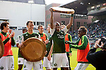 04/14/2011 - The Portland Timbers celebrate their 3-2 victory over FC Dallas after playing their second MLS home match at Jeld-Wen Field Sunday.  ..Photo by Christopher Onstott