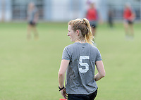 Houston, TX - Thursday Oct. 06, 2016: Samantha Mewis during training prior to the National Women's Soccer League (NWSL) Championship match between the Washington Spirit and the Western New York Flash at BBVA Compass Stadium.