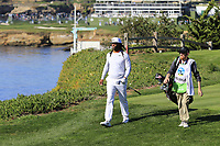 NFL Arizona Cardinals wide receiver Larry Fitzgerald walks off the 5th tee during Sunday's Final Round of the 2018 AT&amp;T Pebble Beach Pro-Am, held on Pebble Beach Golf Course, Monterey,  California, USA. 11th February 2018.<br /> Picture: Eoin Clarke | Golffile<br /> <br /> <br /> All photos usage must carry mandatory copyright credit (&copy; Golffile | Eoin Clarke)