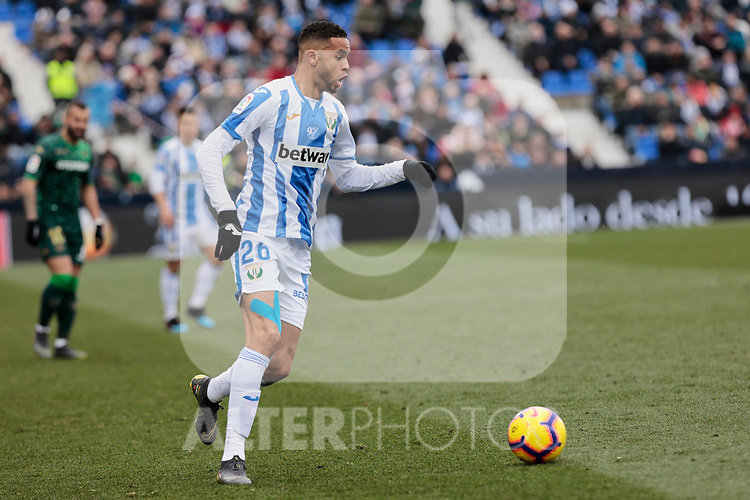 CD Leganes's Youssef En-Nesyri during La Liga match between CD Leganes and Real Betis Balompie at Butarque Stadium in Madrid, Spain. February 10, 2019. (ALTERPHOTOS/A. Perez Meca)