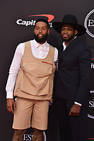 LOS ANGELES, USA. July 10, 2019: PK Subban & Odell Beckham Jr at the 2019 ESPY Awards at the Microsoft Theatre LA Live.<br /> Picture: Paul Smith/Featureflash