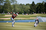 SUGAR GROVE, IL - MAY 31: Blaine Hale of the University of Oklahoma hits an approach shot during the Division I Men's Golf Team Championship held at Rich Harvest Farms on May 31, 2017 in Sugar Grove, Illinois. Oklahoma won the team national title. (Photo by Jamie Schwaberow/NCAA Photos via Getty Images)