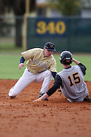 February 27, 2010:  Second Baseman Brady Wilson of West Virginia Mountaineers during the Big East/Big 10 Challenge at Raymond Naimoli Complex in St. Petersburg, FL.  Photo By Mike Janes/Four Seam Images