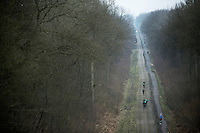 Paris-Roubaix 2013 RECON..birds view on Team Europcar training in the Trouée d'Arenberg