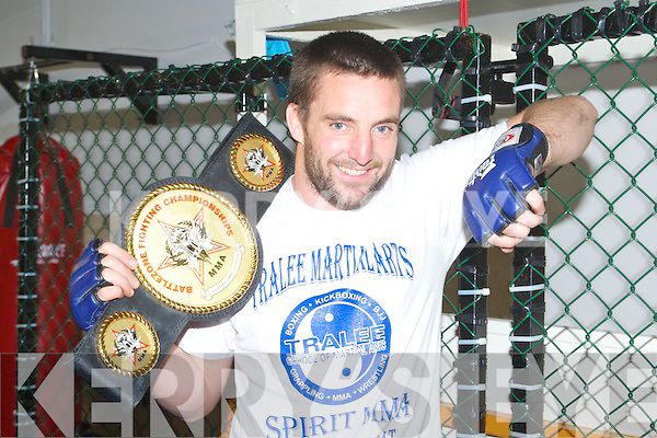 TOP FIGHTER: Tom McGuire, Ballyduff and member of the Tralee Martial Arts Spirit MMA winner of the 2012 light weight MMA Battlezone Fighting Championship in Dublin on the 24th March.