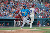 Amarillo Sod Poodles Peter Van Gansen (5) scores a run during a Texas League game against the Frisco RoughRiders on July 13, 2019 at Dr Pepper Ballpark in Frisco, Texas.  (Mike Augustin/Four Seam Images)