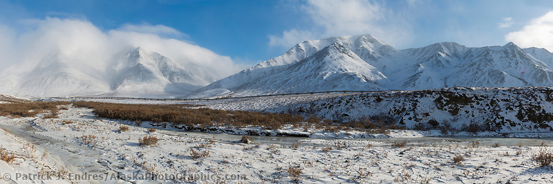 Near the approach of Atigun Pass, Brooks Range, Arctic, Alaska.