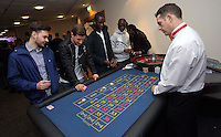Pictured: Eder and Modou Barrow at the roulette table<br />