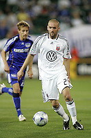 BrandonBarklage #24 making his first MLS start..Kansas City Wizards tied 1-1 with DC United at Community America Ballpark, Kansas City, Kansas.