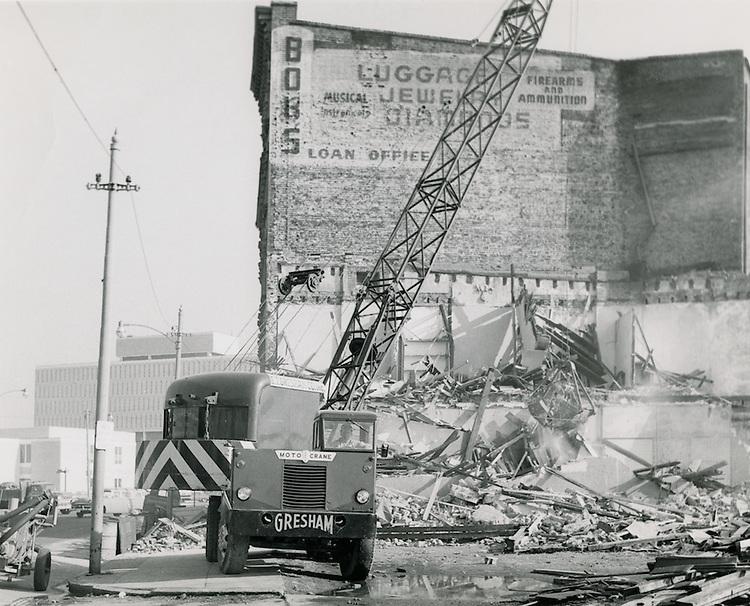 1962 February 02..Redevelopment.Downtown South (R-9)..East Main Street Demolition..HAYCOX PHOTORAMIC INC..NEG# C62-2-13.NRHA# 957C..