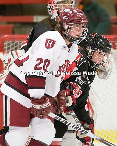 Kate Buesser (Harvard - 20), ? - The Harvard University Crimson defeated the Northeastern University Huskies 1-0 to win the 2010 Beanpot on Tuesday, February 9, 2010, at the Bright Hockey Center in Cambridge, Massachusetts.