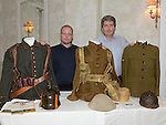 Ian Callan and William Sullivan ofrom the Irish Millitary War Museum pictured at the World War One senimar held in the conyngham Arms hotel Slane. Photo:Colin Bell/pressphotos.ie